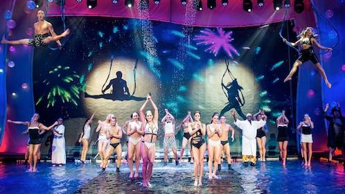 Stage full of performers at WOW Splash in Las Vegas, NV