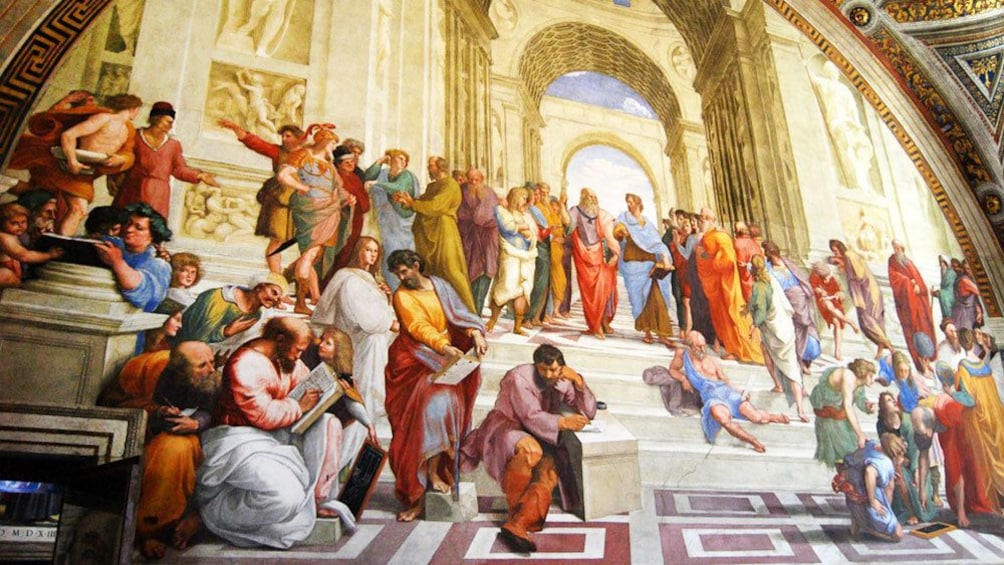 Ver elemento 5 de 9. View of the Raphael's painting The School of Athens in Rome