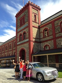 Women standing outside of winery in Adelaide