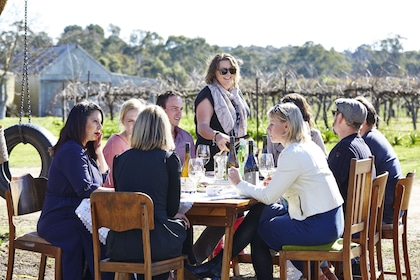 Group enjoying wine at winery in Adelaide