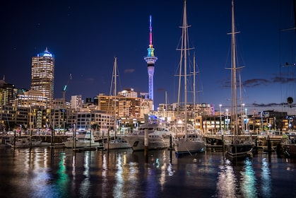 Downtown Auckland at night