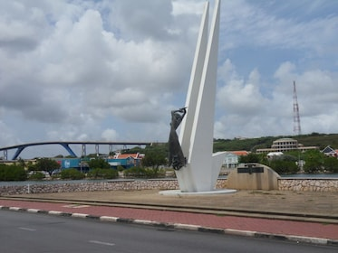 Sculpture along the side of the road on Curacao Island