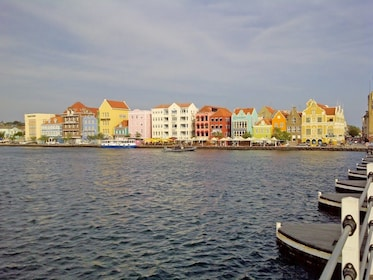 Colorful buildings line the coast of Curacao Island