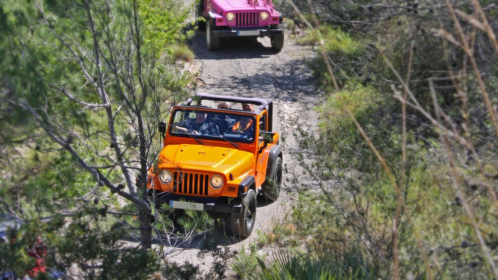Show item 2 of 5. Jeeps driving through the wilderness in costa blanca