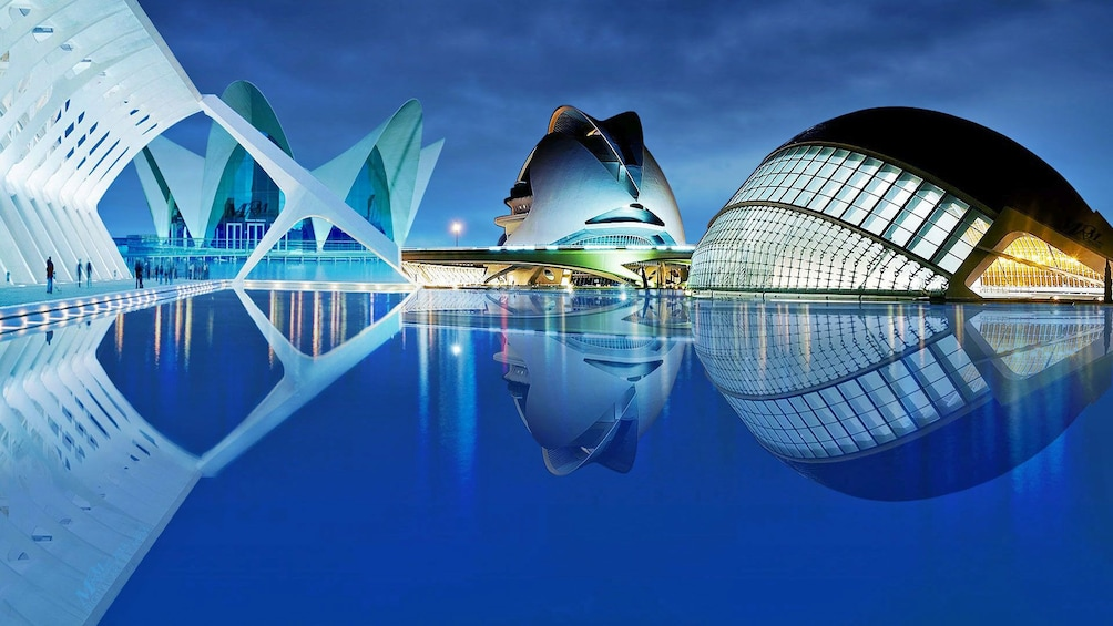 Show item 5 of 5. Modern buildings at the City of Arts and Sciences in Valencia
