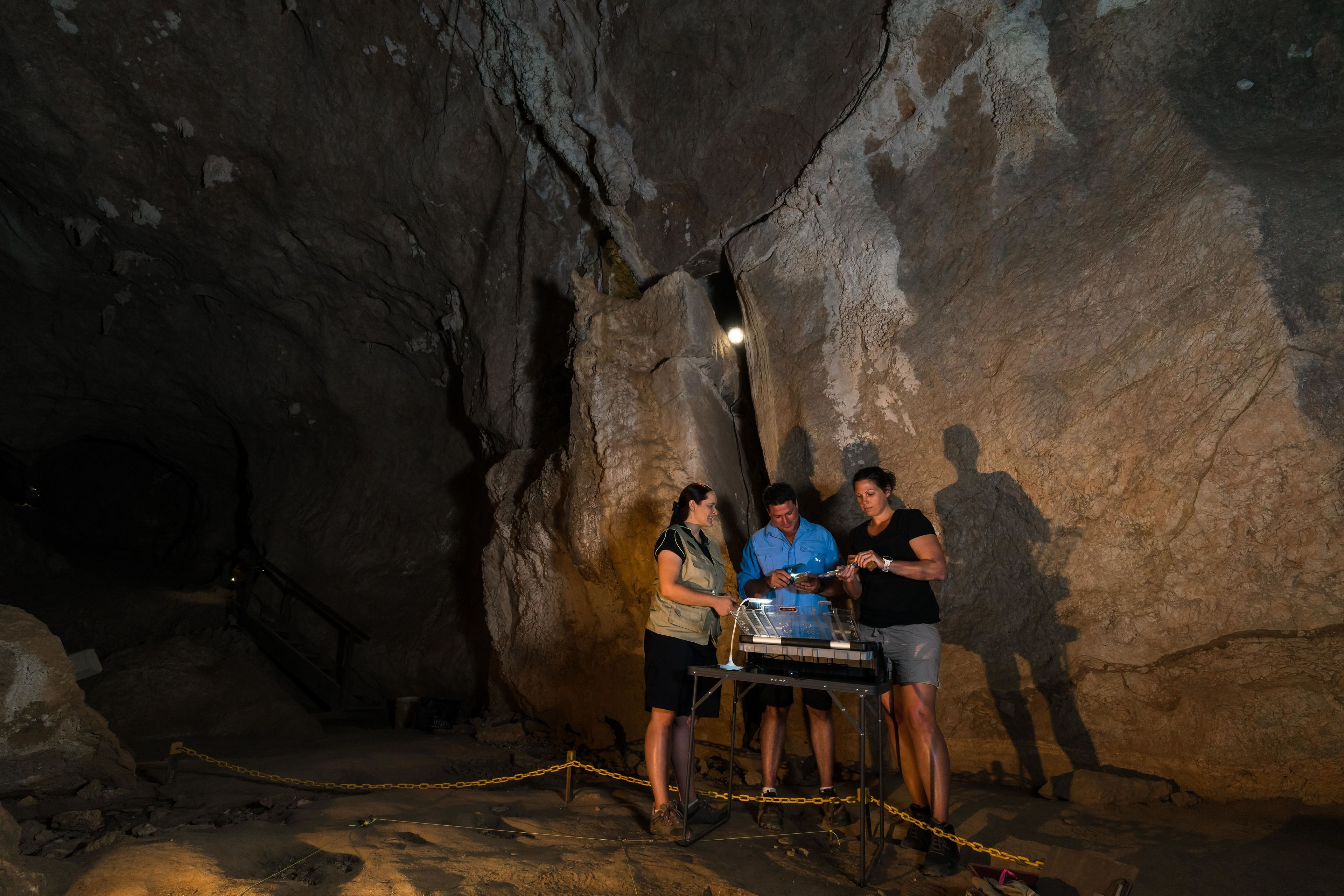Group in Capricorn Caves in Australia