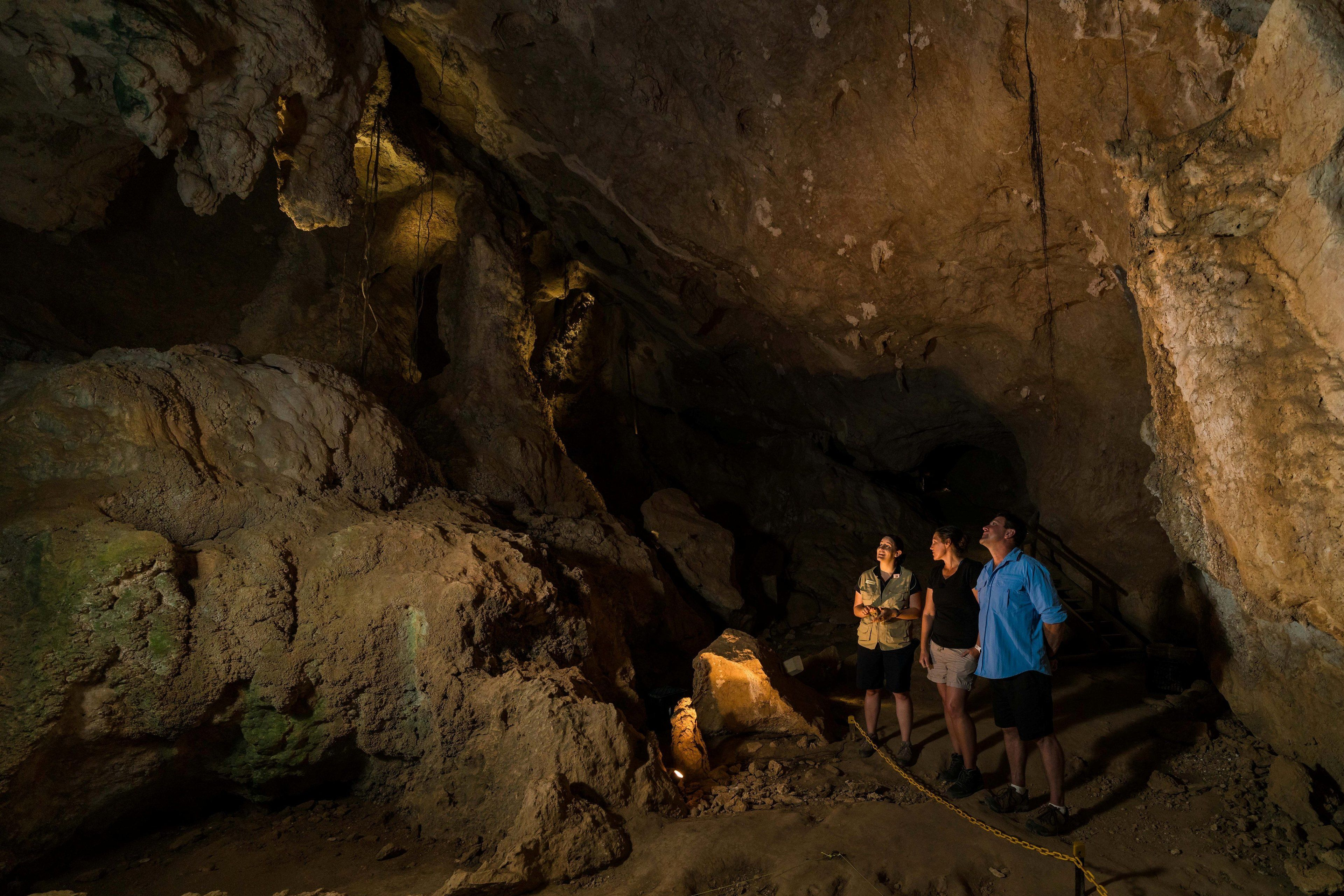 Group inside Capricorn Caves in Australia