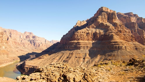 View of the Grand Canyon and Colorado river