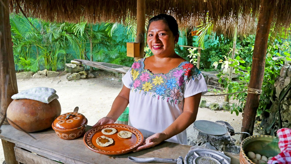 Staff presents tapas in Cozumel