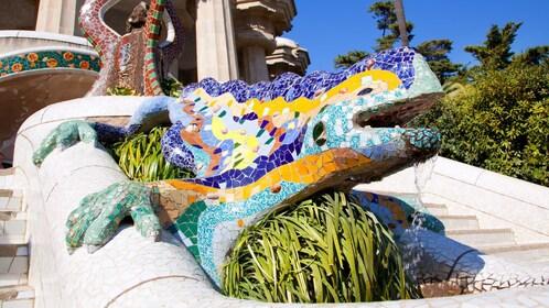 Lizard sculpture in Barcelona