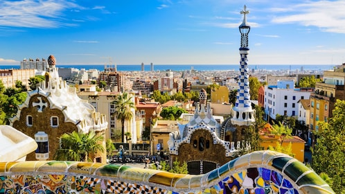 View of colorful buildings in Barcelona