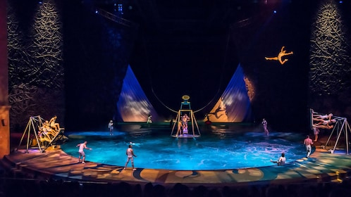 Large performance number during Cirque du Soleil O at the Bellagio in Las Vegas