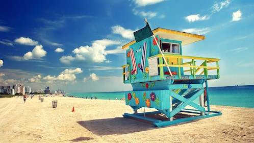 Lifeguard shack on a Miami beach