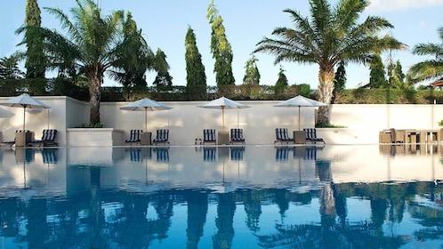Pool side view of Canggu Club Bali