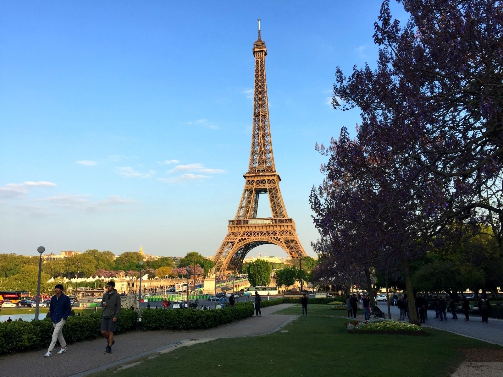 Landscape view of the Eiffel Tower