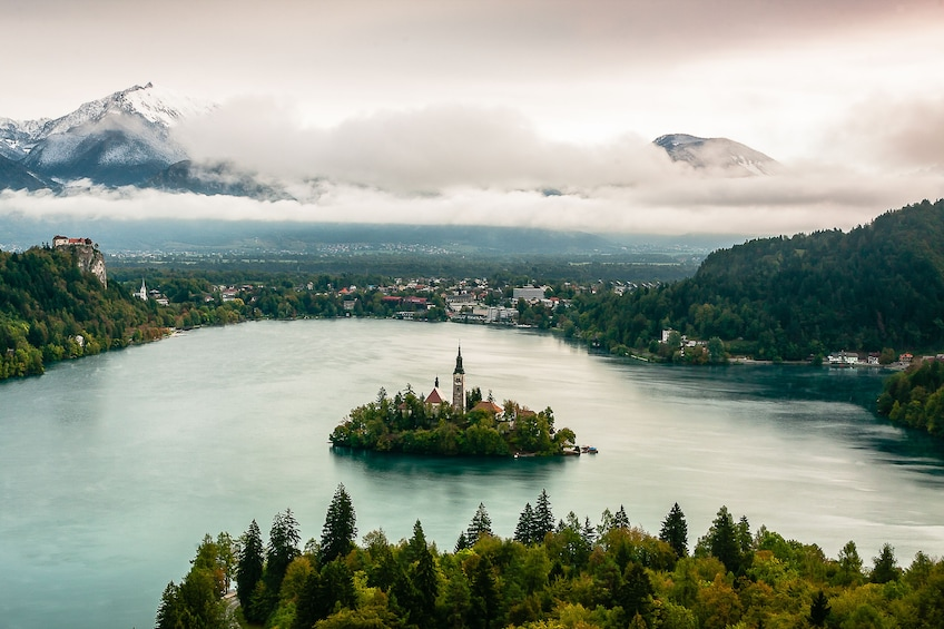 Show item 1 of 10. Castle in the middle of Lake Bled