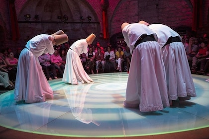 Dervishes bowing before performance in Istanbul