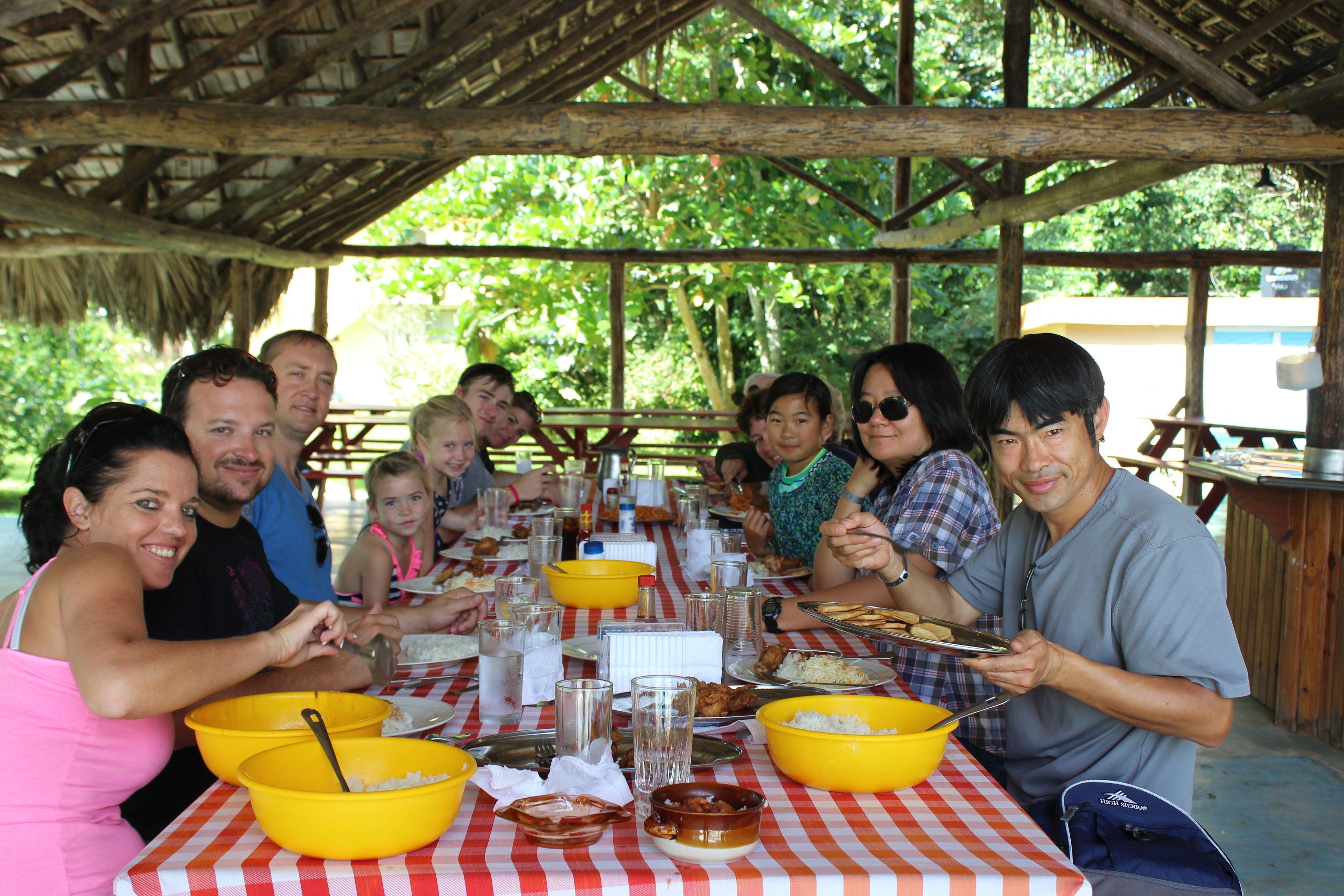 Group enjoying a picnic lunch in Punta Cana