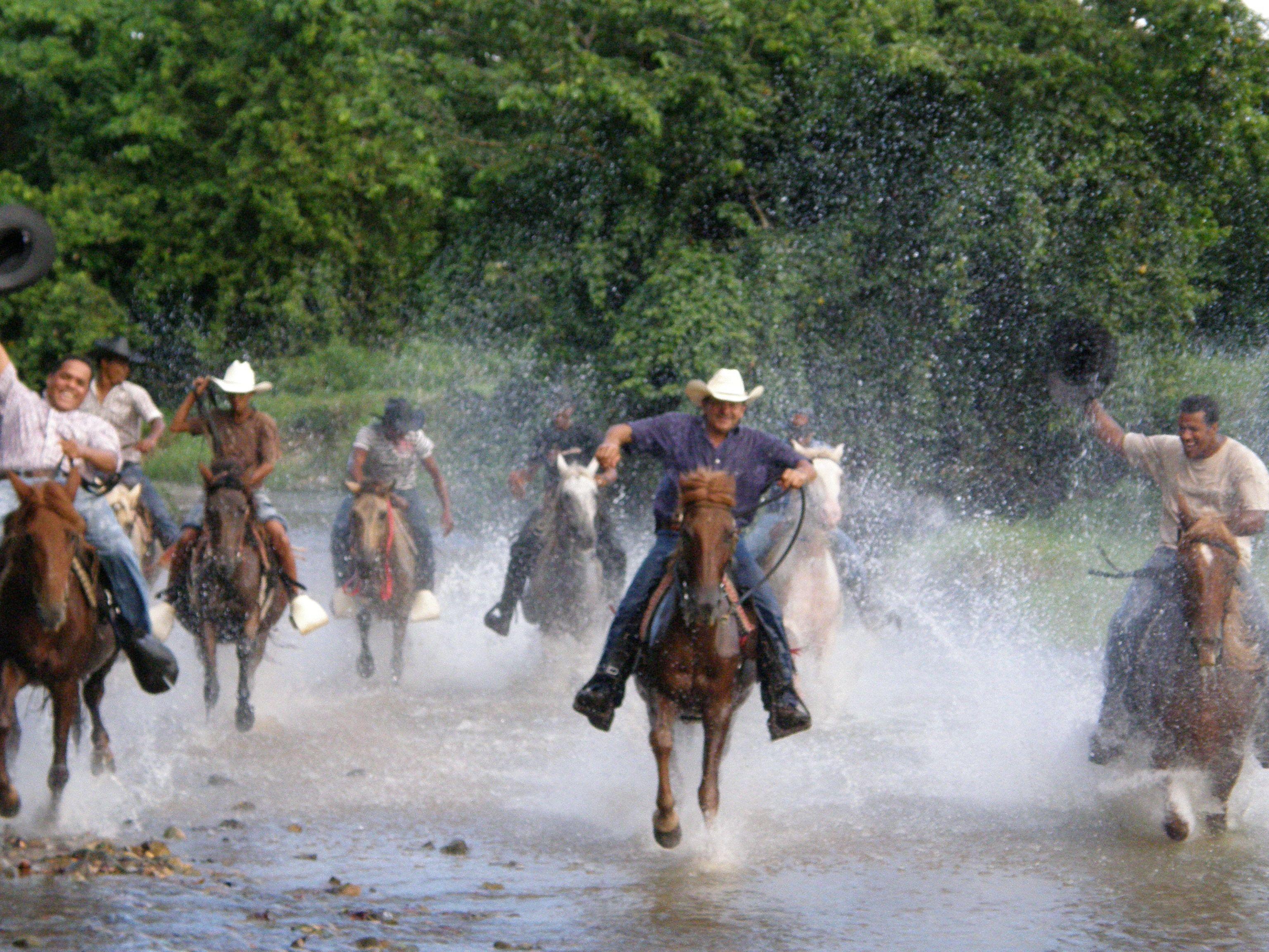 Horseback riding group in Punta Cana