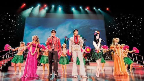 Elvis impersonator in Rock-a-Hula Stageside VIP Dinner & Show