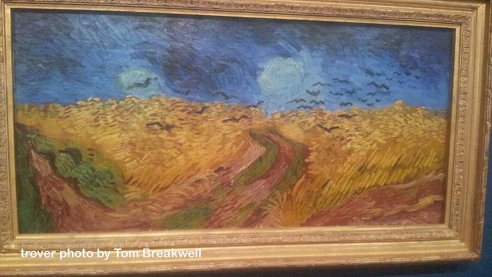 2 枚目の写真 (10 枚中) を開く。 Van Gogh painting of wheat fields and crows