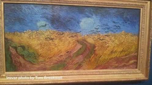 Van Gogh painting of wheat fields and crows
