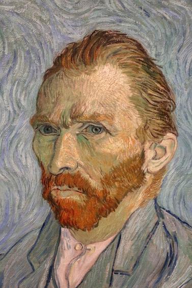 Van Gogh self-portrait at the Van Gogh Museum
