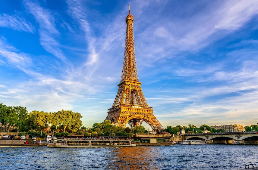 View of the Eiffel Tower in Paris