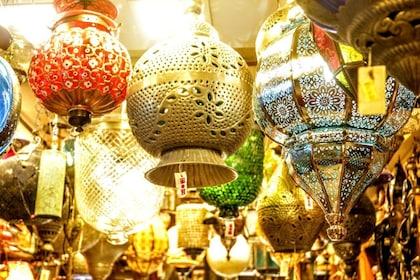 Lanterns in a shop in Delhi