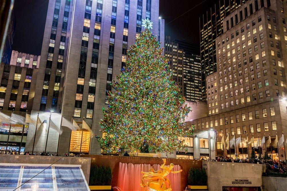 Christmas tree in Rockefeller Plaza