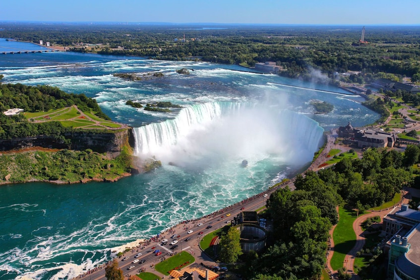 Show item 3 of 10. Aerial view of Niagara Falls in New York
