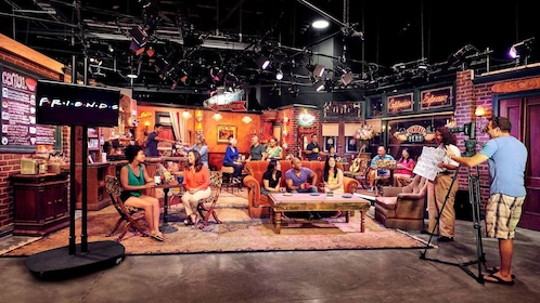 People on set of the TV show Friends at Warner Bros. Studio Tour Hollywood