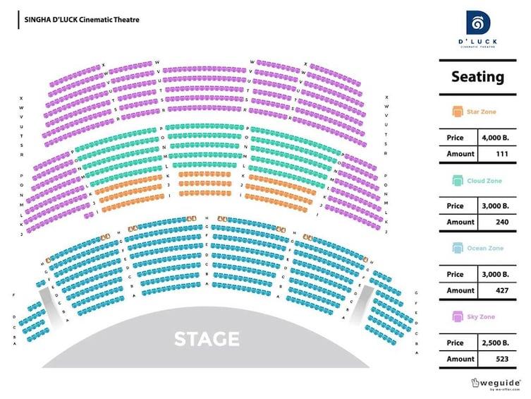 正在顯示第 5 張相片,共 5 張。 Theater seating chart in Thailand
