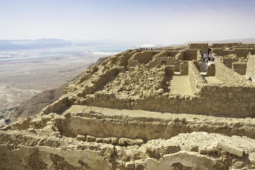 Ancient fortress at the foot of Mount Masada