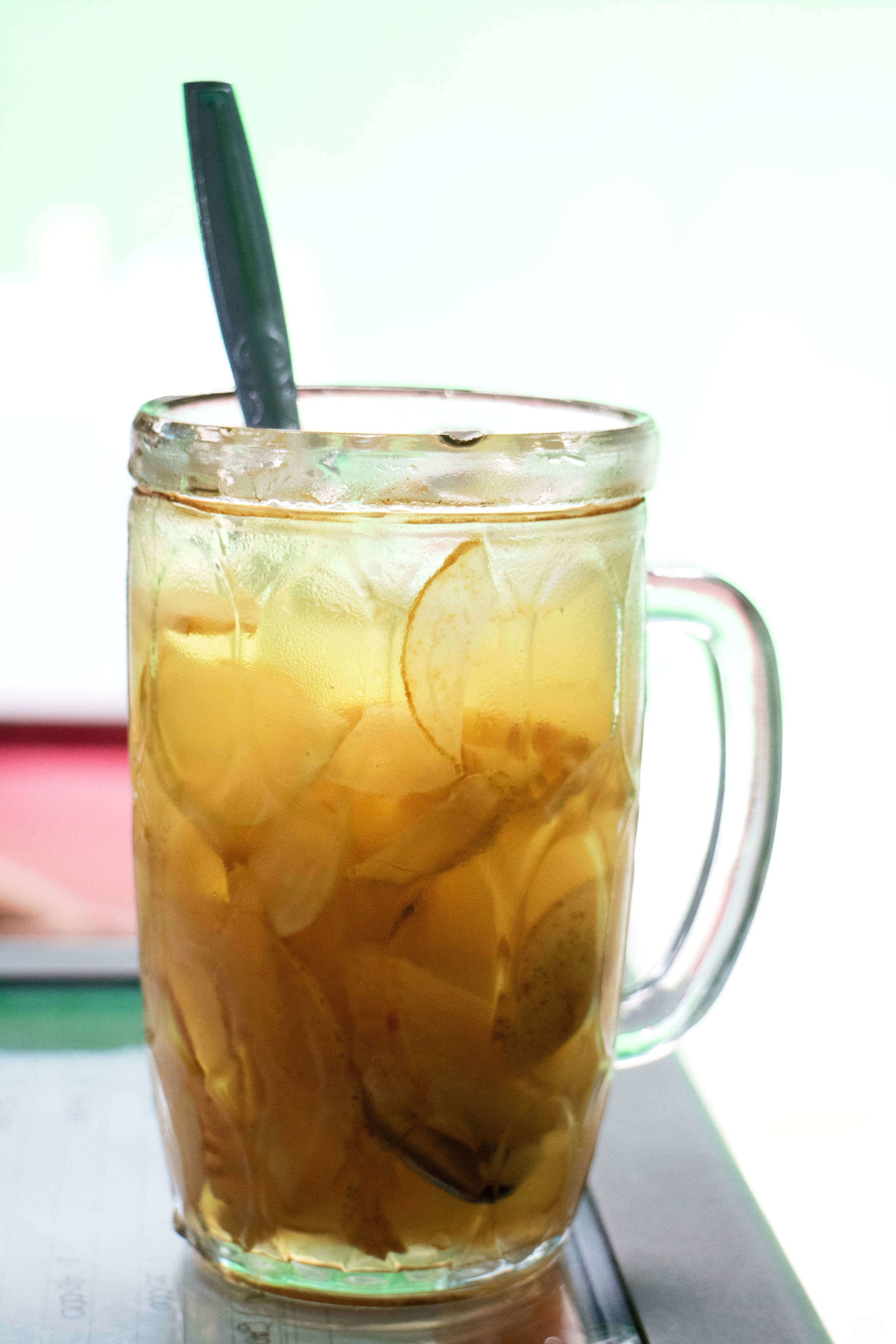 Iced drink at a local street food vendor in Jakarta