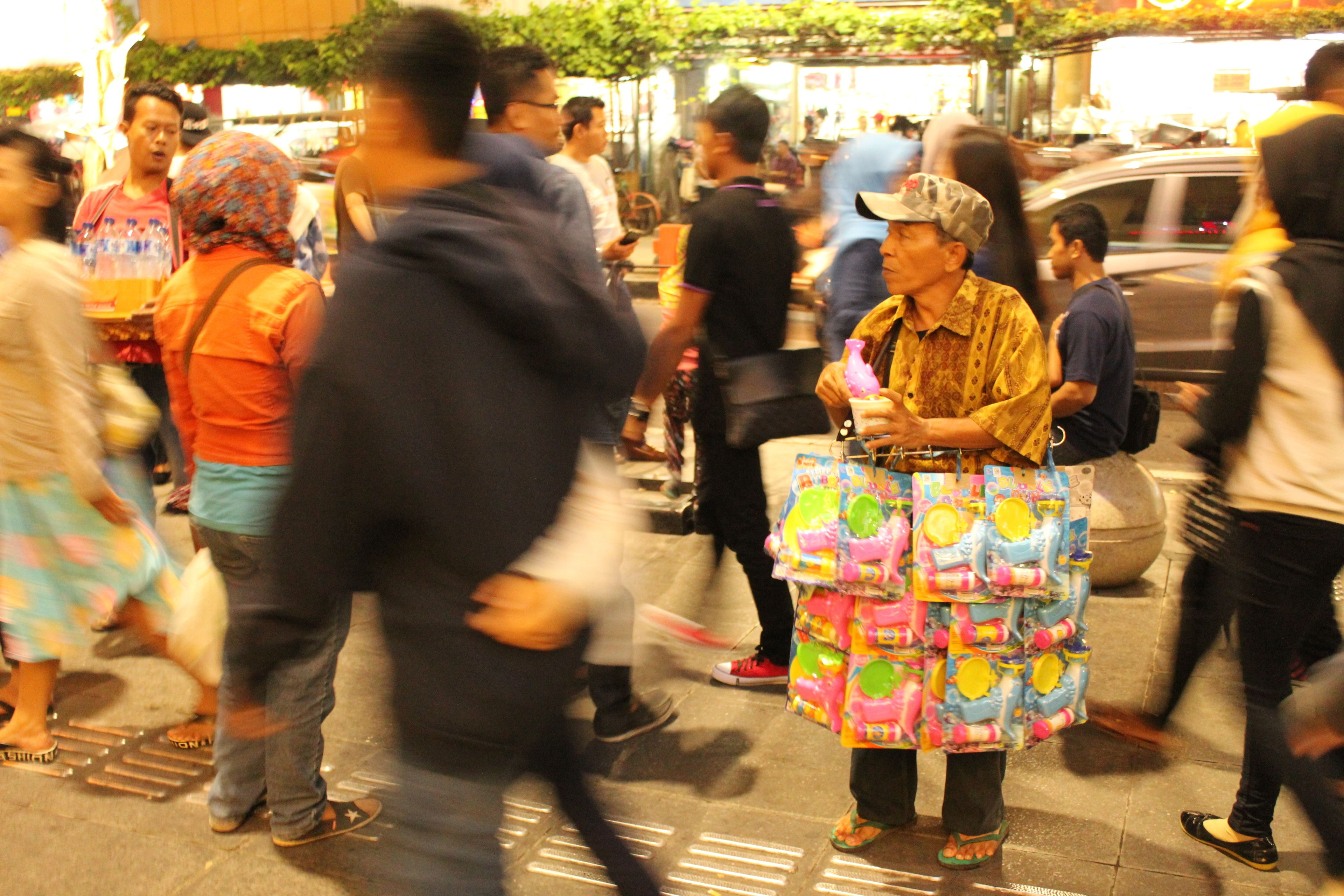 Street view of the Yogyakarta Night Food Tour