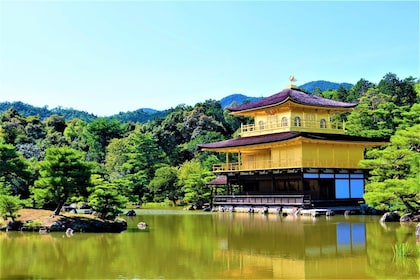 Temple on a lake in Kyoto
