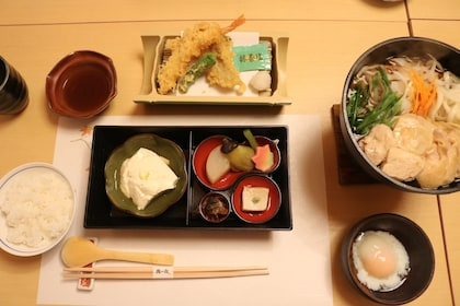 Table set with food in Kyoto