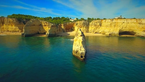 Beach and coastal cliffs in Algarve