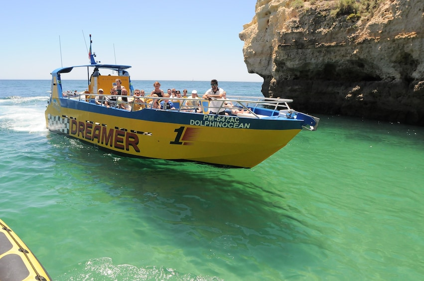 Show item 3 of 8. Boat on the coast of Algarve