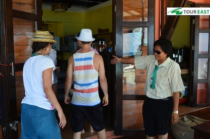 Tour guide with group in Phuket