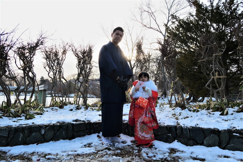 Show item 3 of 11. Kimono for your lovely kids in Hokkaido