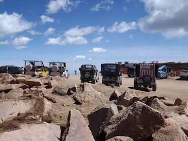 Row of jeeps in Colorado Springs