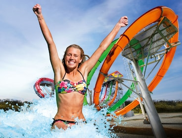 Woman at waterpark in Australia