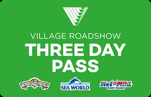 3 Day Pass: Warner Bros. Movie World, Sea World & Wet'n'Wild