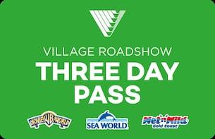 3 日通票:华纳兄弟电影世界、海洋世界和狂野水世界