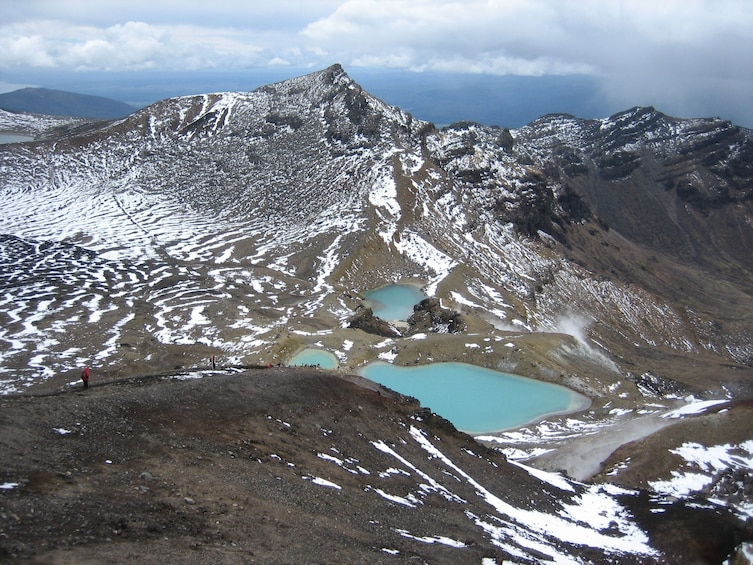 Show item 3 of 3. Mountain and lakes at Tongariro National Park in New Zealand