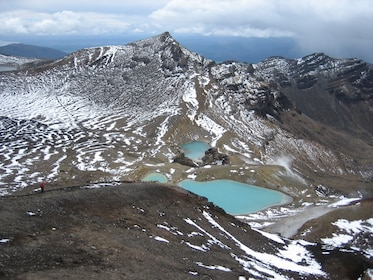 Mountain and lakes at Tongariro National Park in New Zealand