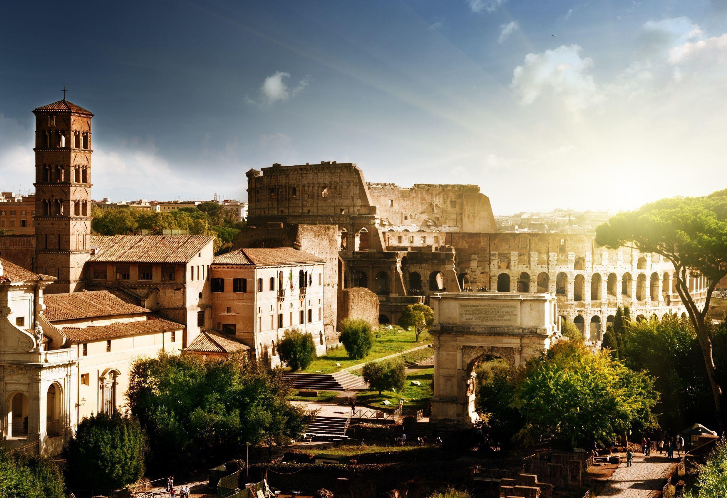 Inträdesbiljett till Colosseum, Forum Romanum och Palatinen