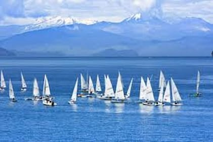 Sail boats in Taupo